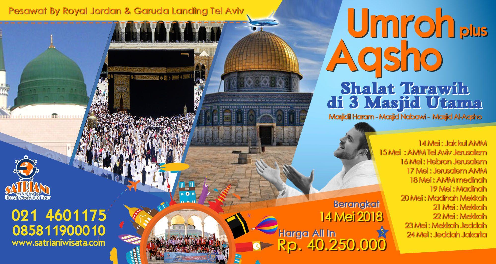 umroh plus aqsho taraweh 3 masjid